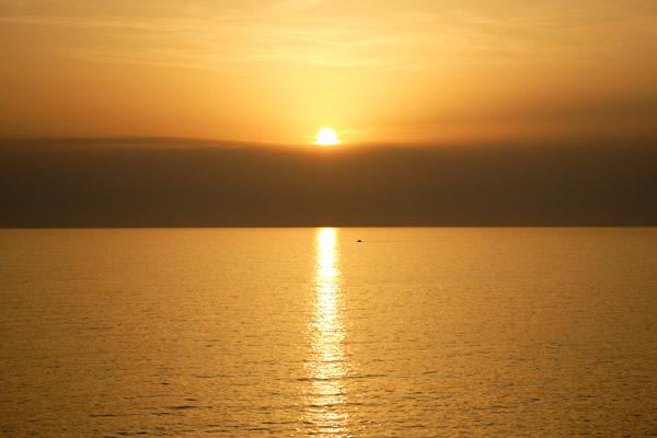 Solnedgang på Telendos